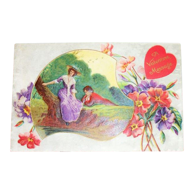Gottschalk, Dreyfuss & Davis: A Valentine Message Postcard - Marked