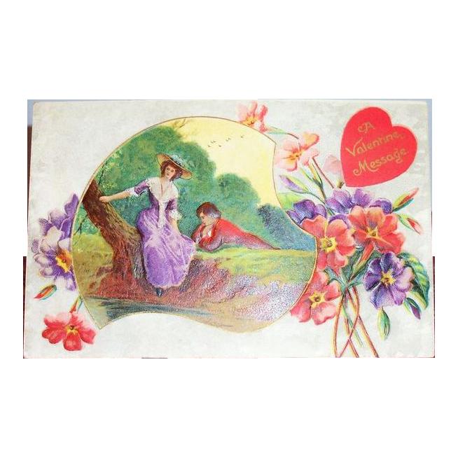 Gottschalk, Dreyfuss & Davis: A Valentine Message Postcard - Marked