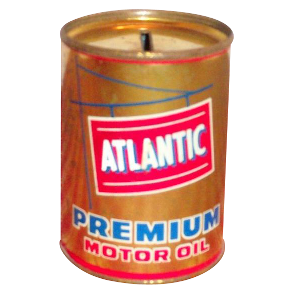 Advertising Atlantic Premium Motor Oil Tin Bank Marked
