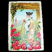 Washington As A Surveyor Patriotic Postcard - Marked