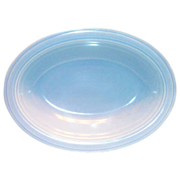 Vernonware: Modern California Azure Blue Oval Stone Ware Vegetable Serving Bowl - Marked