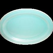 Vernonware: Modern California Pistachio Green Oval Stoneware Platter - Marked