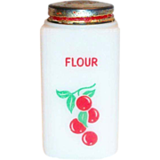 Tipp Novelty Co.: Cherries Design Flour Shaker - Marked