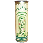 William A. Woodbury Talcum Powder Tin - Marked