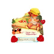 "Vintage Mechanical ""You're My Valentine"" Cardboard Valentine"