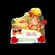 "Vintage Mechanical ""You're My Valentine"" Cardboard Valentine"