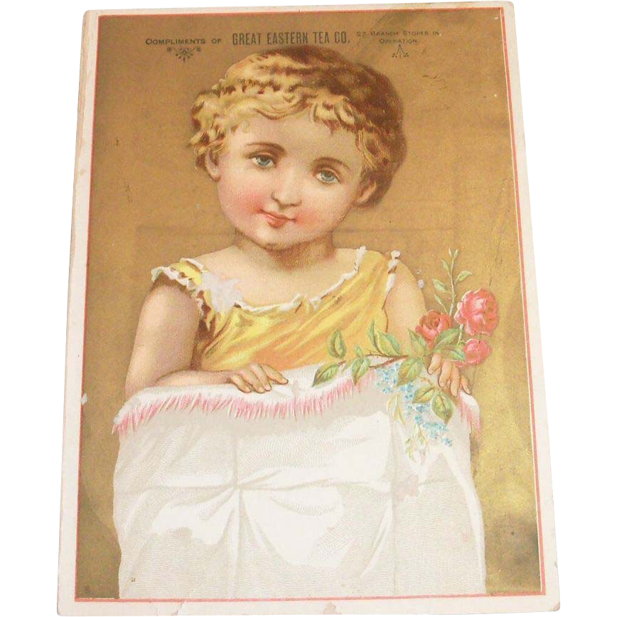 Vintage Great Eastern Tea Co. Trade Card - Marked