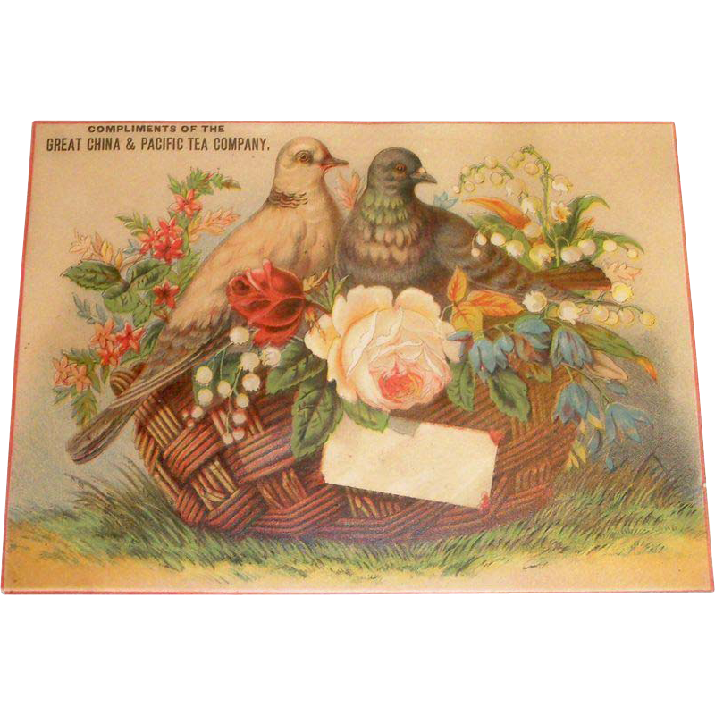 Great China & Pacific Tea Company Trade Card - Marked