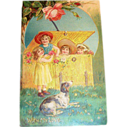 "Vintage ""With My Love"" Postcard - Germany"