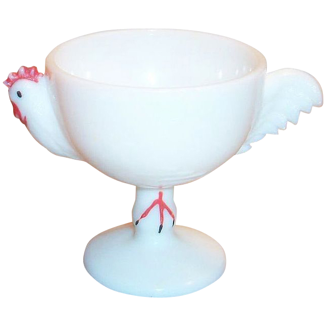 Westmoreland White Glass Chicken Sherbert Dish