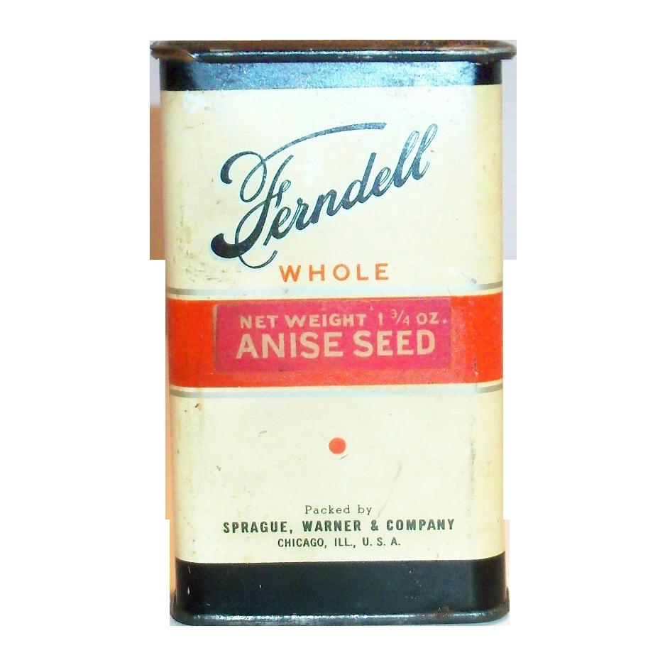 Ferndell Tin Anise Seed Spice Tin