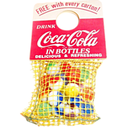 Coca Cola 1950s Bag of Marbles Promotion