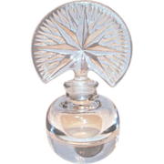 Lovely Pressed Glass American Fan Stopper & Starburst Style Top Perfume Bottle