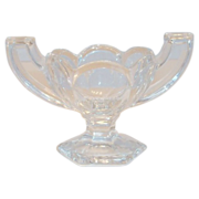 Chippendale Clear Glass Salt Cellar
