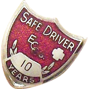 Coca Cola 10 Year Safe Driver Award Pin