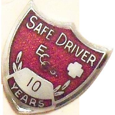 Coca Cola 10 Year Safe Driver Award Pin