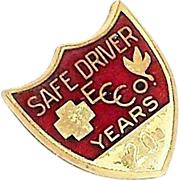 Coca Cola 20 Years Safe Driver Award Pin