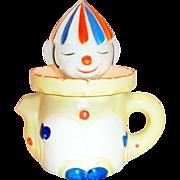 Vintage Handpainted Porcelain Clown Juicer & Pitcher