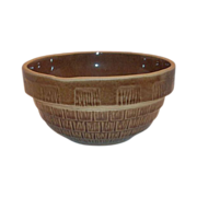 "7"" Round Brown Stoneware Bowl"