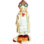 "Hand Painted Porcelain ""Doc"" Figurine - Japan"