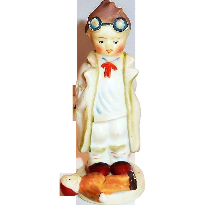 "Hand Painted Porcelain ""Doc"" Figurine - Japan"