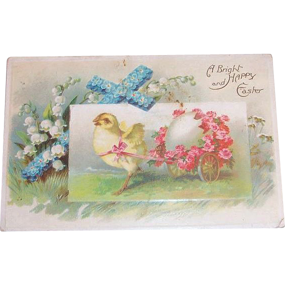 A Bright & Happy Easter Postcard - Int'l Art Publishers Co.
