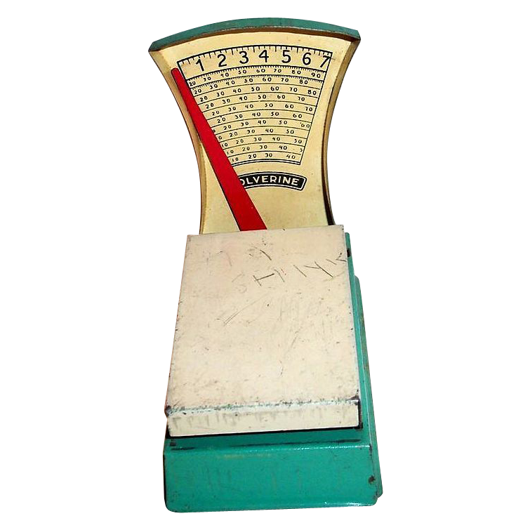 "Wolverine ""The Corner Grocer"" Toy Tin Grocery Scale"