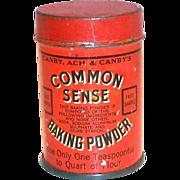 Vintage Common Sense Baking Powder Sample Tin