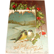 International Art Publishing: With Best Christmas Wishes Postcard