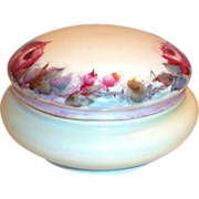 Favorite Bavaria Hand Painted Rose Design Covered Powder Dish