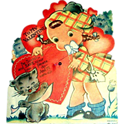 "Vintage ""To My Valentine"" Mechanical Valentine"