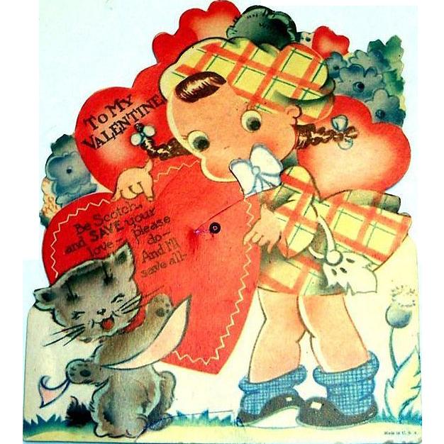 """Vintage """"To My Valentine"""" Mechanical Valentine"""