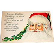 A Joyous Christmas Vintage Postcard