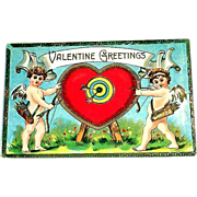 Vintage Valentine Greetings Postcard