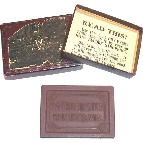 E. A. Harrington Sharpening Stone In Original Box