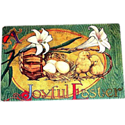 "Vintage ""A Joyful Easter"" Postcard"