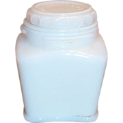Vintage White Milk Glass Lidded Cream Jar