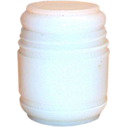 Elmo White Glass Jar & Lid Cream Jar