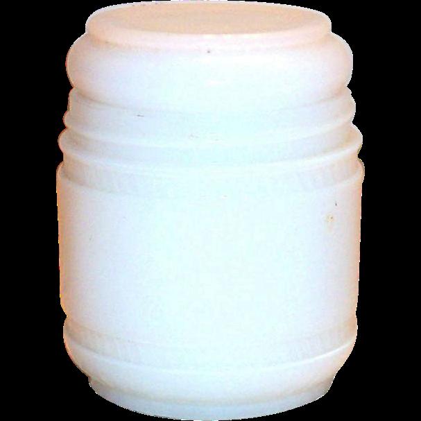 Elmo White Glass Jar & Lid Cream Jar