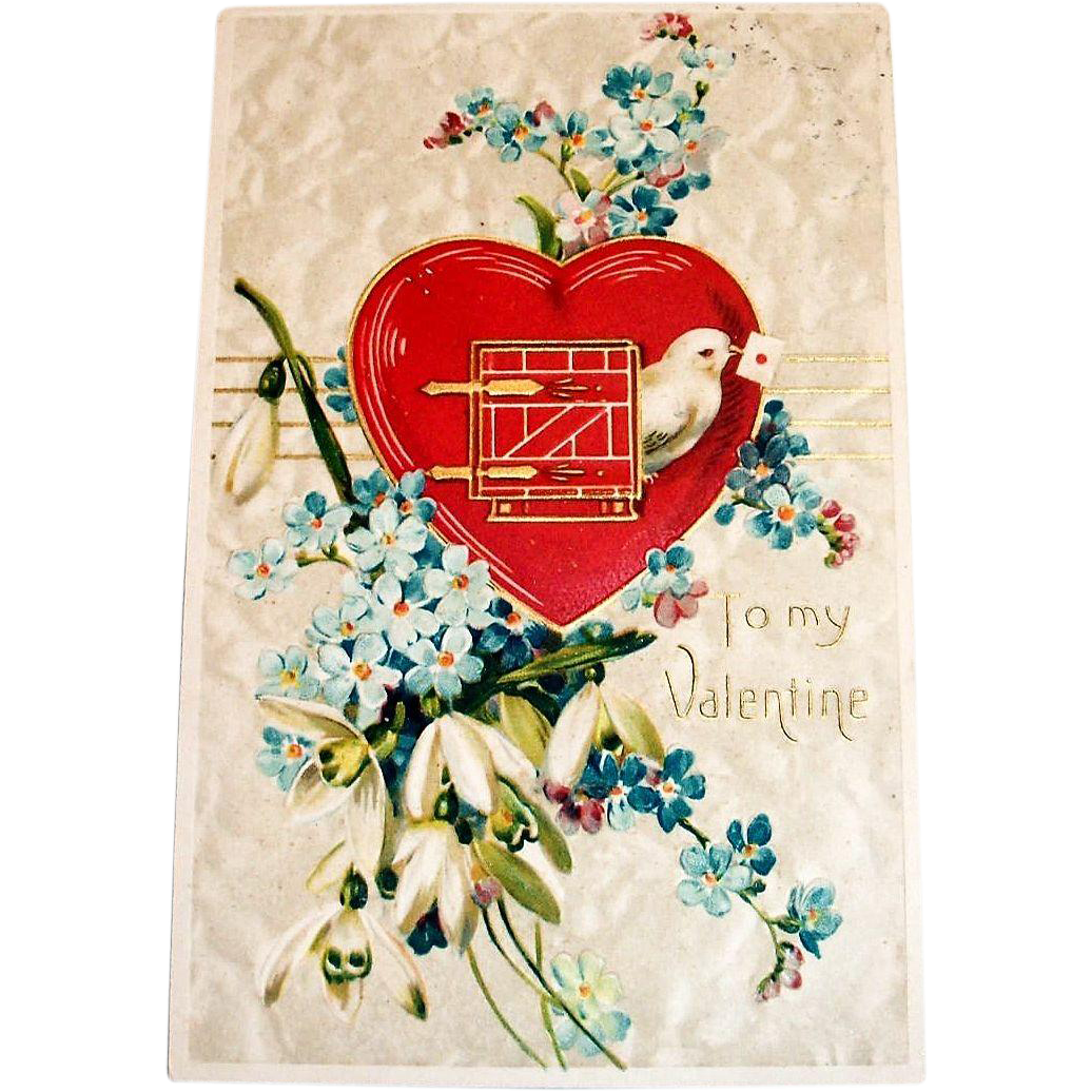 "Vintage ""To My Valentine"" Postcard"