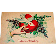 "Vintage ""Valentine Greetings"" Postcard"