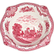 Johnson Bros. Old Britain Castles Red Transferware Serving Bowl