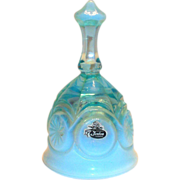 Fenton Blue Opalescent Glass Bell