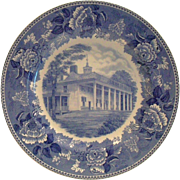 "Wedgwood Washington Bicentennial Plate ""Mount Vernon"" - 1932"