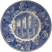 "Wedgwood: Washington Bicentennial Plate "" Washington Monument"" Porcelain Plate"