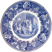 "Vintage Washington Bicentennial Plate ""Birth Of The American Flag"" 1932"