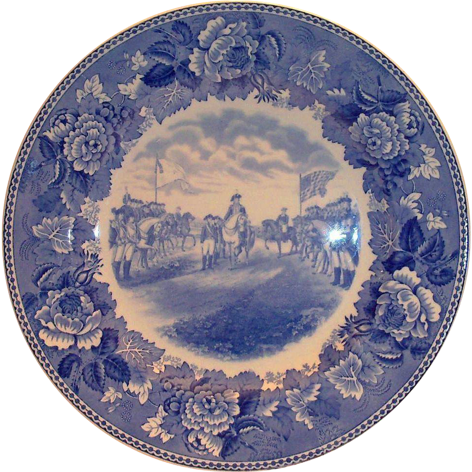"Wedgwood ""Washington Bicentennial Plate"" Surrender Of Cornwallis At Yorktown"