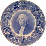 Wedgwood Washington Bicentennial Plate: Portrait Of General Washington - 1932