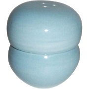 "Russell Wright ""Iroquois"" Stackable Porcelain Aqua Salt & Pepper Set"