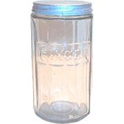 "Vintage Hoosier Crystal Embossed ""Ginger"" Spice Jar"